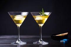 Marijuana cocktails against black background Royalty Free Stock Photo