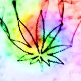 Marijuana dans la fumée Photographie stock