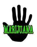 Marijuana di Handprint Immagine Stock Libera da Diritti