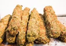 Marijuana drug background Royalty Free Stock Photos