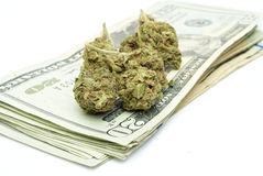Marijuana, Drug Money Royalty Free Stock Image