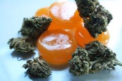 Marijuana Edibles do caramelo de alta qualidade imagens de stock