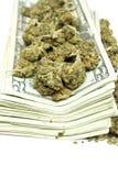 Marijuana et argent Photographie stock libre de droits