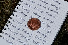 Marijuana exchange coin Stock Photo