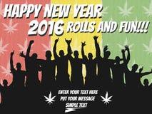 2016 marijuana för lyckligt nytt år Royaltyfria Foton
