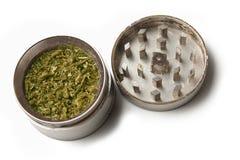 Marijuana grinder Stock Image