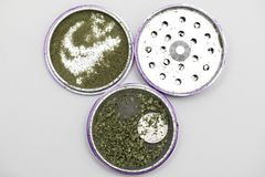 Marijuana Grinder royalty free stock photo