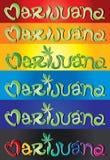 Marijuana hand written text  illustration Royalty Free Stock Image
