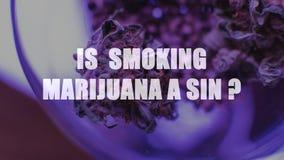 Marijuana i en krus Cannabisskarv Medicinskt eller recreative arkivfoto