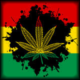 Marijuana Jamaica-background Royalty Free Stock Photo