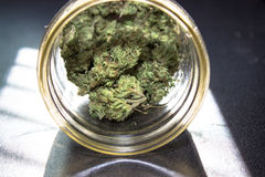 Marijuana in a Jar Royalty Free Stock Image
