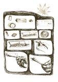 Marijuana joint. As packaged marijuana joint, storyboard - hand drawing Royalty Free Stock Image