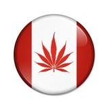 Marijuana légalisée dans le bouton de Canada illustration libre de droits