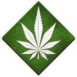 Marijuana leaf on abstract background royalty free illustration