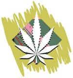 Marijuana leaf on abstract background  Royalty Free Stock Photography
