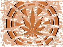 Marijuana leaf on blood spotted isolated Royalty Free Stock Images