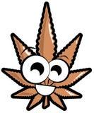 Marijuana leaf cartoon isolated Royalty Free Stock Images