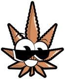 Marijuana leaf cartoon isolated Royalty Free Stock Photos