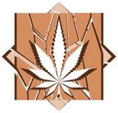 Marijuana leaf on colorful background Stock Photography