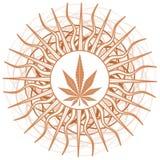 Marijuana leaf on fantasy isolated Stock Image