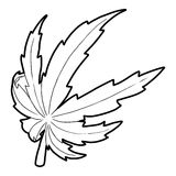 Marijuana leaf icon, outline style Stock Photography