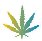 Marijuana leaf illustration Stock Image