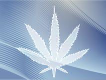 Marijuana leaf illustration stock images
