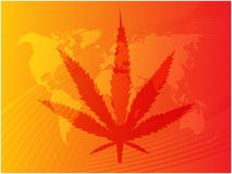 Marijuana leaf illustration Stock Photography