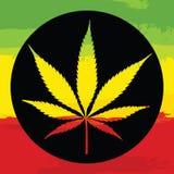 Marijuana leaf illustreation Royalty Free Stock Images