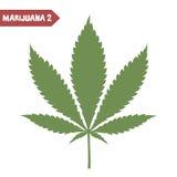 Marijuana leaf isolated stock illustration