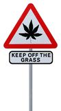 Marijuana Leaf Road Sign Royalty Free Stock Images