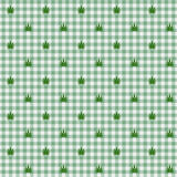 Marijuana Leaf Seamless Background Stock Photo