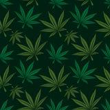 Marijuana leaf seamless pattern Stock Photos
