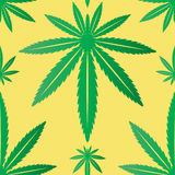 Marijuana Leaf Seamless Tile Stock Images