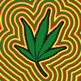 Marijuana leaf (vector). Illustration of marijuana leaf (from cmyk to rgb Stock Photos