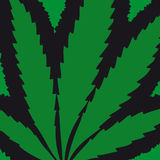 Marijuana leaf (vector) Royalty Free Stock Image