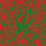 Marijuana leaf (vector) Royalty Free Stock Photos