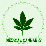 Marijuana leaf and words Medical Cannabis Stock Images