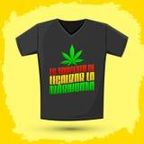 Marijuana legalizar do la do de do momento do Es - tempo do ` s legalizar o espanhol da marijuana text Imagens de Stock Royalty Free