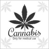 Marijuana logo - cannabis for medical use Stock Images
