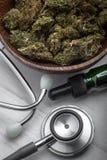 Marijuana médica fotografia de stock