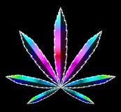 Marijuana médica cáñamos stock de ilustración