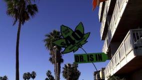 Marijuana médica en la playa LOS ÁNGELES de Venecia metrajes