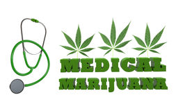 Marijuana médicale illustration stock