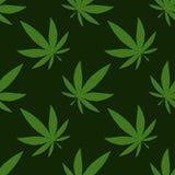 Marijuana médicale, modèle sans couture, papier d'emballage cadeau illustration stock