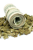 Marijuana and Money Stock Photos