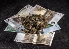 Marijuana and money Royalty Free Stock Photography
