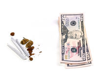 Marijuana and money Royalty Free Stock Photography
