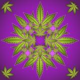 Marijuana- och cannabisväxtsymbol  Royaltyfria Bilder