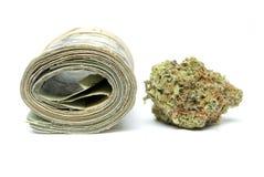 Marijuana och pengar Royaltyfri Fotografi
